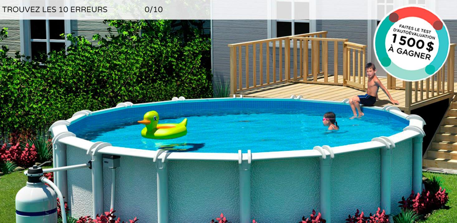 terre dans la piscine