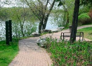 Parc centenaire : vue sur la rivière Chaudière