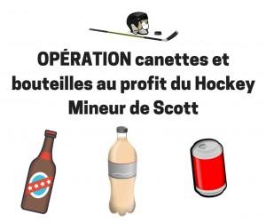 Opération cannettes et bouteilles aux profits du Hockey mineur de Scott